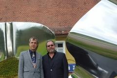 Escultores Dieter Erhard y Pepo Toledo