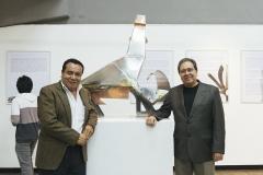 Con el Director de la ENAP Arq Otto Arana