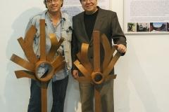 Con el literato José Luis Perdomo