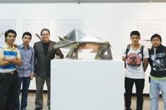 Pepo Toledo y estudiantes de la ENAP 2