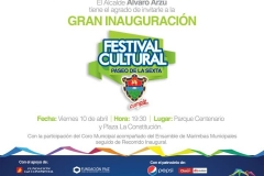 inauguracion Festival Cultural Paseo de la Sexta 2015