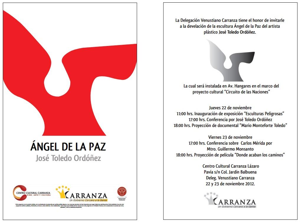 03.12.2015-Invitación México, DF, Escultura Urbana y Expo Esculturas Peligrosas