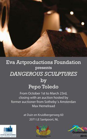 10.1.14-Poster-Holanda,-Amsterdam,---Duin-&-Kruidberg,-Expo-Esculturas-Peligrosas