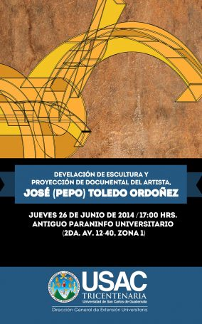 Invitación-6.26.14-Guatemala,-USAC,-Paraninfo,-Escultura-Urbana